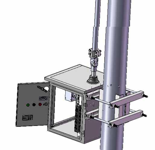供操作高压隔离开关和接地开关之用,可进行远方控制,也可就地电动控制